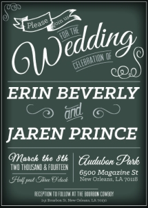 Beverly-Prince Wedding Invitation
