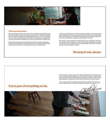 Etsy Annual Report Greeting Pages