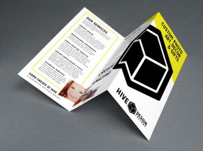 Hive Design Factory Trifold Brochure