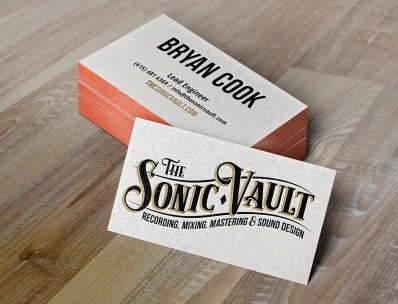 The Sonic Vault Business Cards