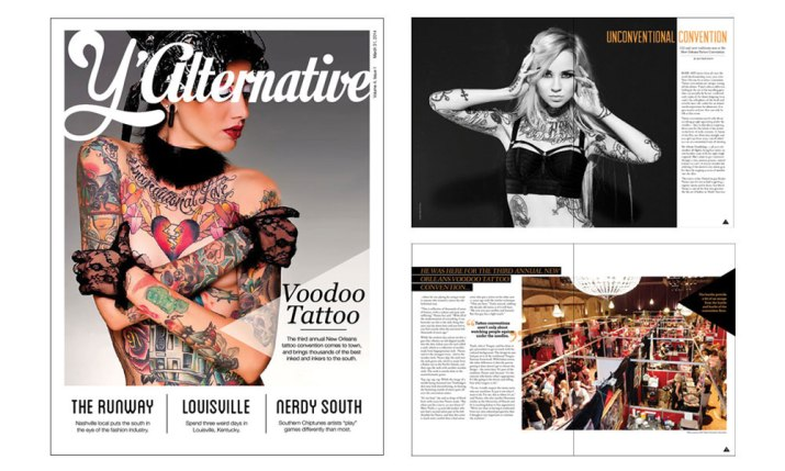 Y'allternative Magazine Cover & Spread